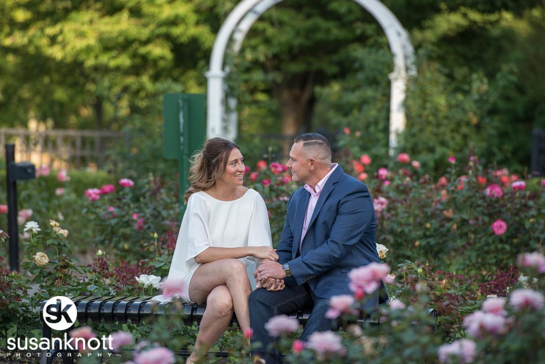 """Engagement photos, Schenectady, NY"", ""Schenectady Rose Garden photos"", ""Engagement photography"", ""Schenectady photographer"""