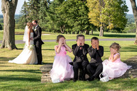 Sweet wedding pic with kids Albany Country Club
