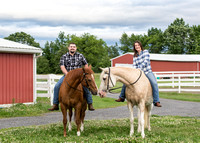 Engagement pictures with horses, Saratoga Springs, NY