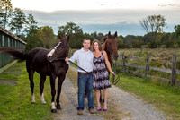 Engagement Photos with horses, Saratoga, NY