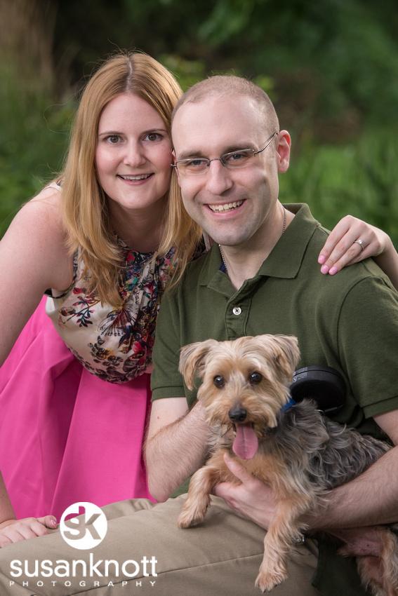 """""""Wedding Engagement photographer, Saratoga Springs"""", """"Wedding photos"""", """"Engaged couple"""", """"Engagement photo with dog"""""""