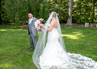 Wedding first Look photo in Schenectady, NY
