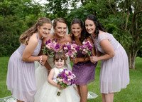 Bridesmaids and flower girl with the Bride, Latham, NY