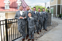 All the Groomsmen preparing for wedding at Homewood Suites, Schenectady, NY