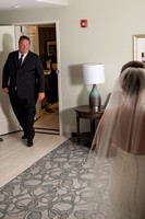 Dad's first look at his daughter as a bride