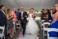 Bride and her dad walking up the aisle, The Century House, Latham NY