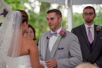 Emotional wedding vows at The Century House, Latham, NY
