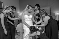 The bride and bridesmaids getting ready at Homewood Suites, Schenectady, NY